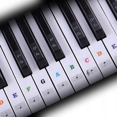 Naklejki na keyboard klawisze Muzo NK2 kolor Nuty