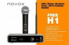 Novox Free H1 zestaw bezprzewod z mikr do ręki NOVFRH1