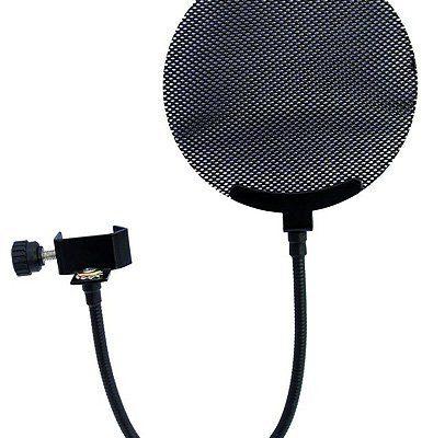 Omnitronic 60006250filtr metalowy Pop mikrofonu Czarny Microphone pop filter metal, black