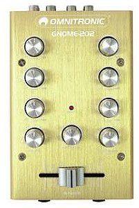 Omnitronic GNOME-202 Mini mixer gold 10006882