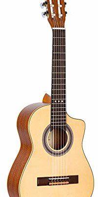Ortega Guitars Requinto seria gitara akustyczna 6 stringów - świerk (RQ25) RQ25