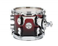 PDP by DW Tom Tom Concept Maple Red to Black Sparkle Fade