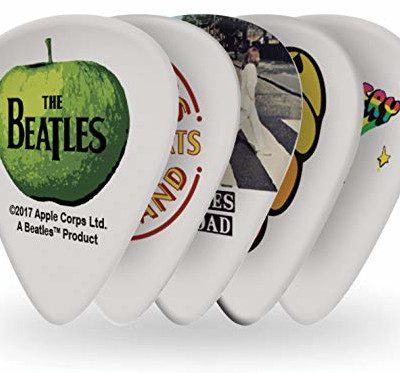 Planet Waves 1CWH6-10B3 Beatles Signature Celluloid Pick Collection motyw albumy z 10 kostkami w twardym 1CWH6-10B3