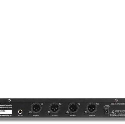 Power Dynamics PD504B, zestaw mikrofonów bezprzewodowych UHF, 4 x zestaw słuchawkowy + nadajnik kieszonkowy, 4 x 50 kanałów Sky-179.006