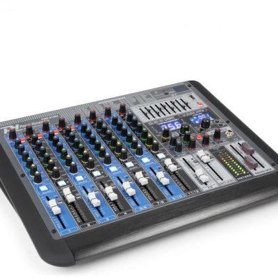 Power Dynamics PDM-S1204 12-kanałowy mikser muzyczny DSP/MP3 port USB odbiornik BT Sky-172.624