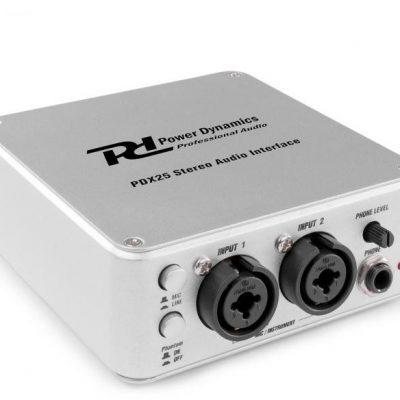 Power Dynamics PDX25, interfejs audio stereo, z oprogramowaniem Audacity Sky-172.779