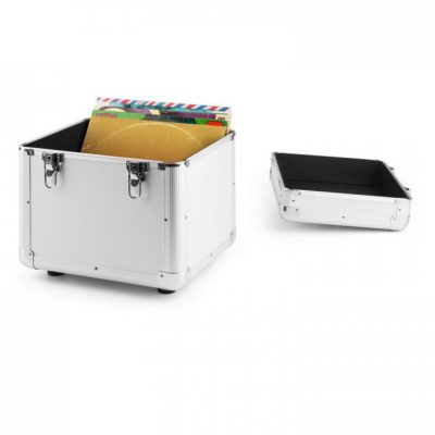 Power Dynamics RC100 Aluminiowa walizka na płyty winylowe (na 100 płyt o rozmiarze 12 cali) srebrna Sky-171.829