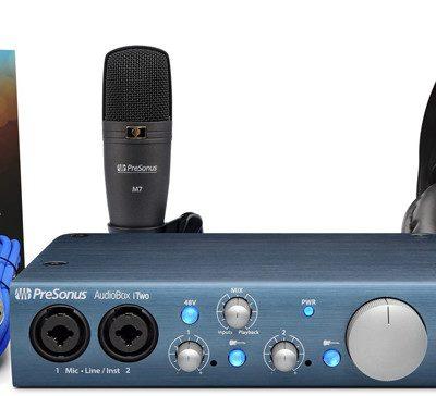 PreSonus AudioBox iTwo Studio - Zestaw Nagraniowy + kurs domowe studio nagrań 82193