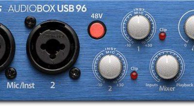 PreSonus AudioBox USB 96 - Interfejs Audio USB + kurs domowe studio nagrań 71532