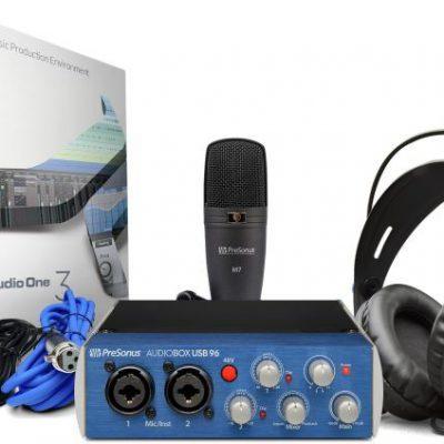 PreSonus AudioBox USB 96 Studio + kurs- Zestaw Nagr. + kurs domowe studio nagrań 73166