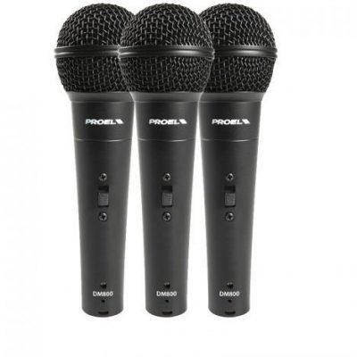 Proel DM 800 KIT 3x Mikrofon do ręki