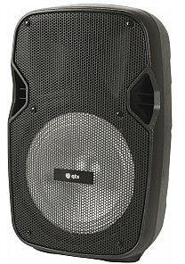 QTXsound PAL8 nagłośnienie przenośne, kolumna mobilna, Portable PA VHF BT + LEDs 178.860UK