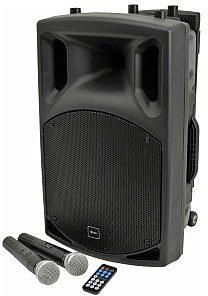 QTXsound QX15PA-plus nagłośnienie przenośne, kolumna mobilna, portable PA unit UHF + USB/SD/FM/BT 178.857UK