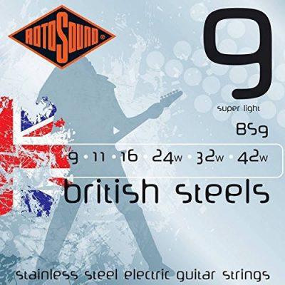 Rotosound rotos górne British Steels Electric Guitar Strings BS9