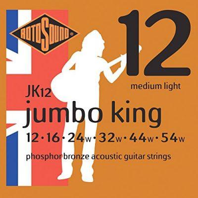 Rotosound rotos górne Jumbo King Acoustic Guitar Strings JK12