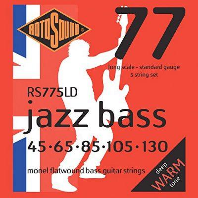 Rotosound RS 5-ST 775ld Jazz struny ścienny f gitara basowa 45130Long Scale RS775LD