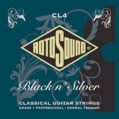 Rotosound Zapewnia rotos górne Black N 'Silver struny Klassik akcesoria gitarowe CL4
