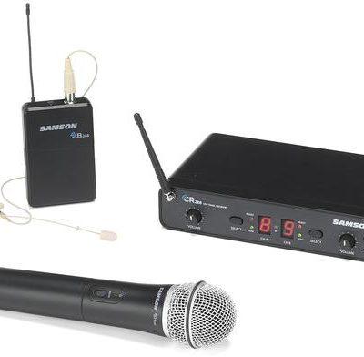 Samson CR288 Concert 288 Pro Combo - podwójny zestaw bezprzewodowy, 1x mik do ręki + 1 x mikrofon nagłowny. 518-566 MHz 22950