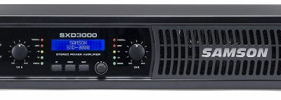Samson SXD3000 - wzmacniacz mocy 2 x 300W/8 , 2 x 450W/4, DSP - EQ, Limiter, Delay. XLR -Jack / Speakon - zaciski