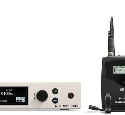 Sennheiser ew 500 G4-MKE2-Bw - odbiornik true diversity w metalowej obudowie z intuicyjnym wyświetlaczem OLED, pasmo 626-698 MHz. 69696
