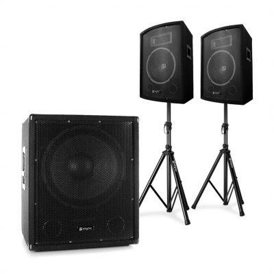 Skytec 2.1 Aktywny zestaw nagłośnieniowy z subwooferem Bi-Amp parą głośników 10