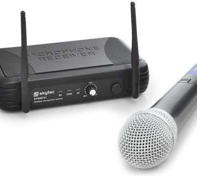 Skytec Bezprzewodowy mikrofon UHF STWM721 1 kanał 1 mikrofon Sky-179.175