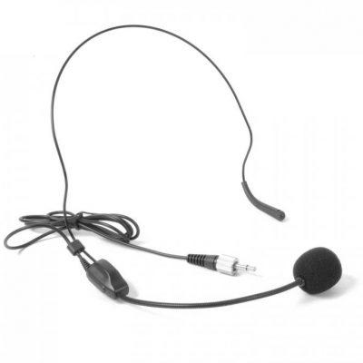Skytec STWM711H Minizestaw mikrofon nagłowny VHF nadajnik i odbiornik czarny Sky-179.187