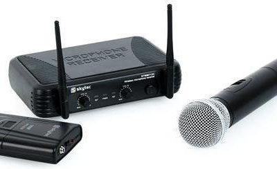 Skytec STWM712C UHF Bezprzewodowy zestaw mikrofonowy Sky-179.180