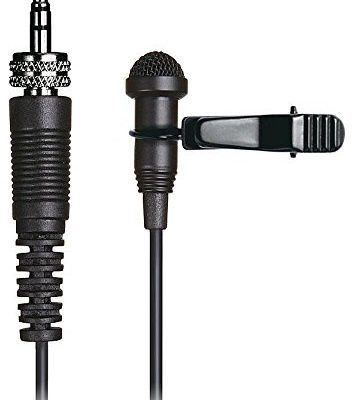 Tascam TM-10lb Lavalier-mikrofon (łącznie z nowym zaczepem do noszenia i ochrona przed wiatrem, idealnie nadaje się do telewizora, Theater lub wykładów) Czarny TM-10LB