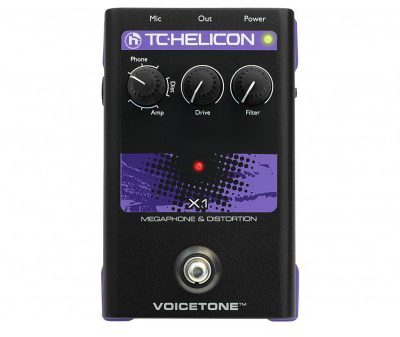 TC Helicon VoiceTone X1 Efekt Megafon/Distortion