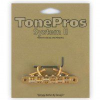 TonePros AVR2-G Tune-o-matic Bridge mostek do gitary złoty
