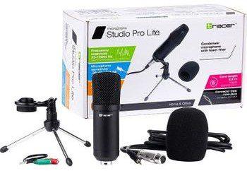 TRACER Mikrofon Zestaw Mikrofon pojemnościowy + filtr piankowy Studio Pro Lite TRAMIC46340