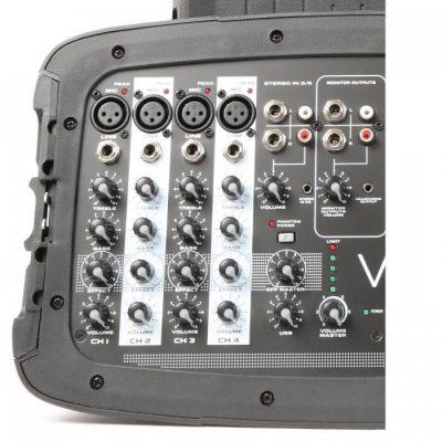Vexus Vexus PSS302 mobilny system PA audio maks. moc 300WBluetooth USB SD MP3 2 x statyw Sky-170.118