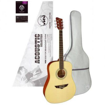 VGS Gitara Acoustic Selection Mistral Pack,stroik, pokrowiecVGS VG500.390.800