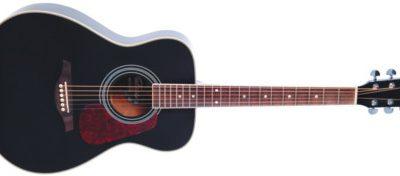 Vintage V300BK - FOLK GUITAR, SOLID TOP, BLACK 89912