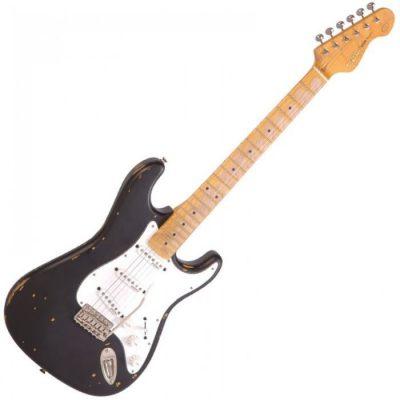 Vintage V6MRBK Electric Guitar Boulevard Black