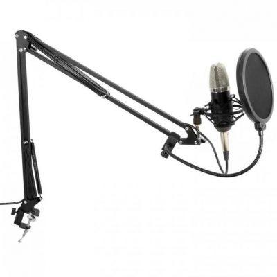 Vonyx Vonyx Zestaw studyjny mikrofon wielkomembranowy ramię mikrofonowe pająk osłona przed wiatrem kabel 173.503