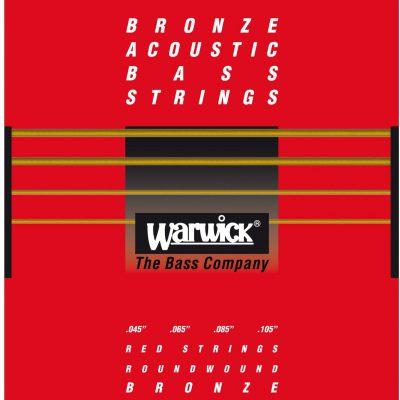 Warwick 35200 - struny do gitary basowej Set, 4-String, .045-.105, Bronze, Medium Scale