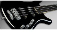 Warwick Corvette Basic 4-String Solid Black High Polish Fretless Medium Scale gitara basowa