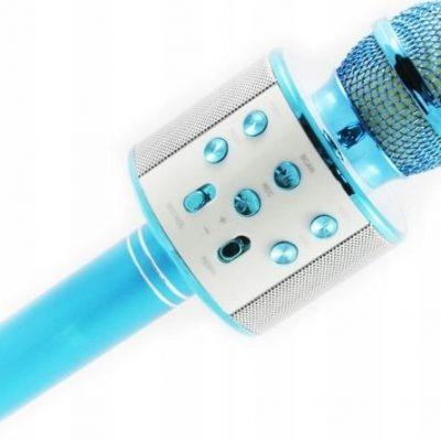 Xrec Mikrofon  Mikrofon Karaoke Głośnik Bluetooth Ws858 Niebieski SB4990