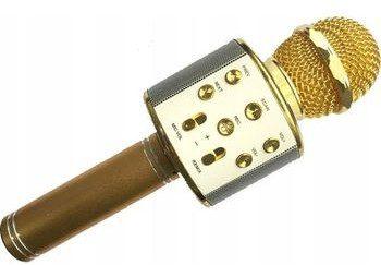 XREC Mikrofon Xrec Mikrofon Karaoke Głośnik Bluetooth Ws858 Złoty SB4989