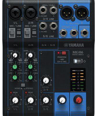 Yamaha MG06 mikser audio MG06YEM