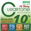 Cleartone struny do gitary akustycznej 12strunowej 10-47 bronze