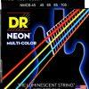 DR Neon Multi Color saiter Bass strun Strings 4, 045105 MCB-45