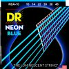 DR Strings NEON Hi-Def Blue - NBA-10 - struny do gitary akustycznej Set, Light, .010-.048