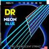 DR Strings NEON Hi-Def Blue - NBA-11 - struny do gitary akustycznej Set, Medium Light .011-.050