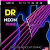 DR Strings neon Hi-Def Pink - npe-10 - Electric Guitar String Set, Medium, .010-.046