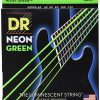 DR Strings Neon Zielony Bass struny do gitary 45125Jeu de NEON 45-125 VERT