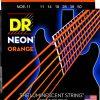 DR Strings neonowy pomarańczowy zestaw strun gitara elektryczna 1150 NEON 11-50 ORANGE