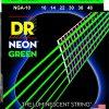 DR Strings NGA 10-48 NEON GREEN - struny do gitary akustycznej